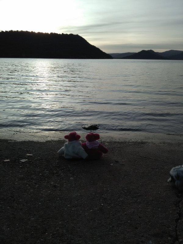 """""""....t 'aimer sur les bords du lac...."""" hi hi..."""
