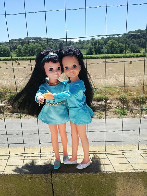 Deux petites soeurettes jumelles pour la vie.....