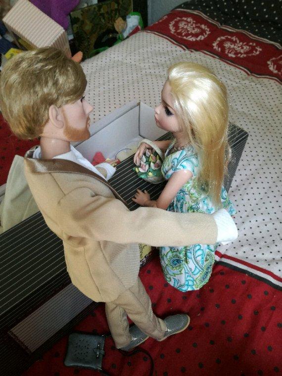 Penn a offert à Ellowyne un joli panier de fleurs.....afin de lui témoigner son amour....