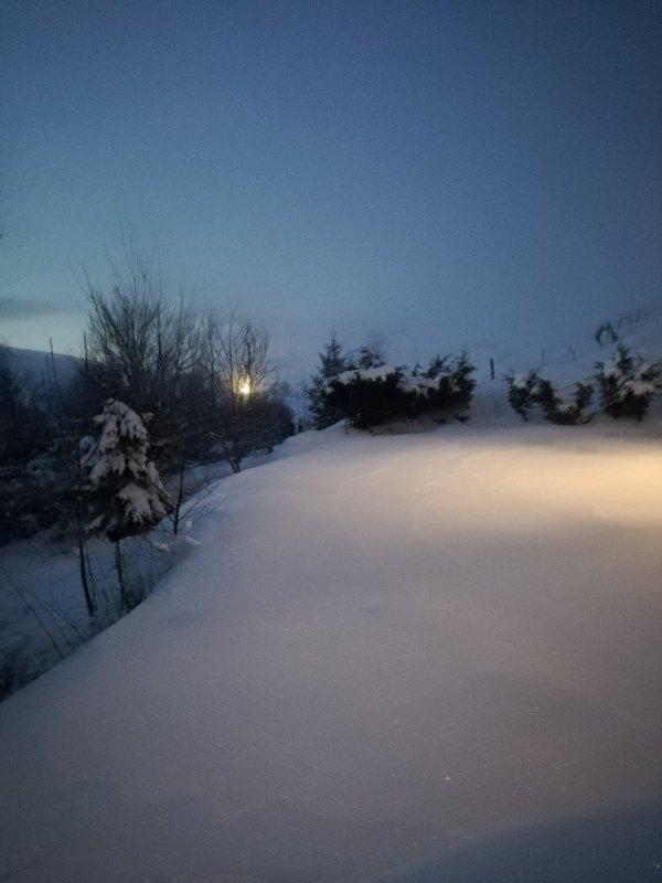 C est l hiver a cent pour cent, tres froid. Bon dimanche