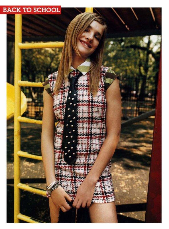 Souvenez-vous: Teen Vogue Septembre 2001 (Back to School par Tom Munro)