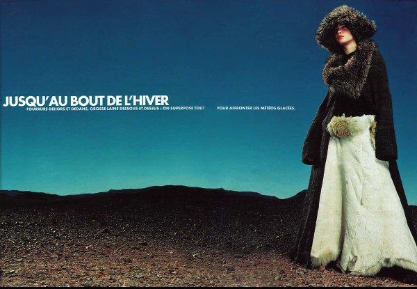 Souvenez-vous: Elle France Janvier 2001 (Jusqu'au bout de l'hiver) par Friedmann Hauss