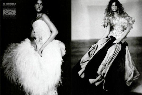 Souvenez-vous: Vogue Italie Septembre 2004 (A girl of Singular Beauty) par Paolo Roversi