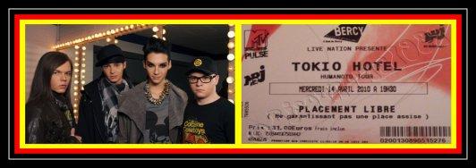 Direction le concert des Tokio Hotel , le 14 avril prochain !