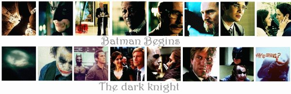 Batman Begins/ The dark knight