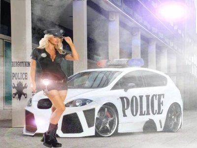 BERGOTUNING  SEXY POLICE WOMAN
