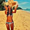 Beach, sun, and love.