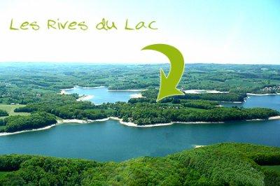 PARADIS DE LA PECHE ET DES VACANCES au bord du lac de St Etienne Cantalès.