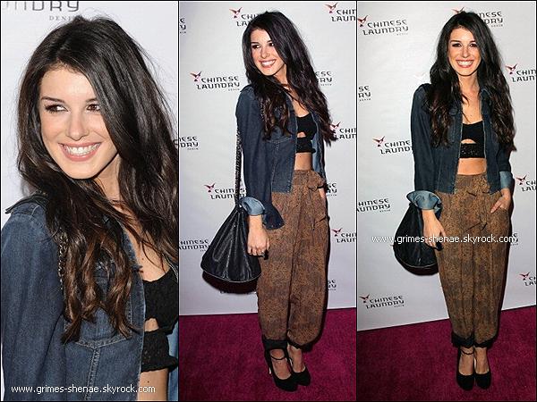 """. 03 Avril 2012 : Shenae Grimes a été vue à la fête du """"Chinese Laundry Fashion Denim Launch"""". TOP OU FLOP ? ."""
