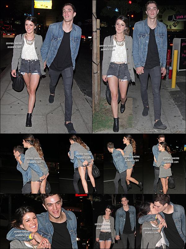29.09.2012 : Shenae Grimes et son fiancé, Josh ont été vu quittant une fete dans Los Angeles.