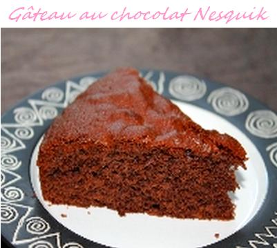 Gâteau au chocolat Nesquik ! :