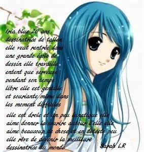 nouveau personage Iria Blue
