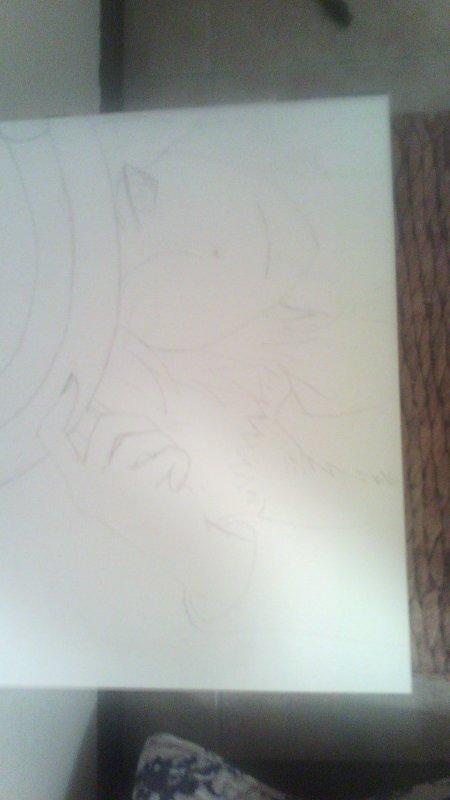 """""""Défi """" première journée avec mon dessin voilà ça commence bien demain je le termine !!!"""