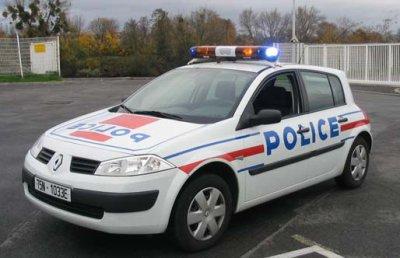 Renault Megane de la Police