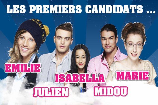 Les 5 premiers candidats ...