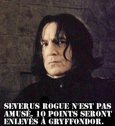 Severus n'est pas content!