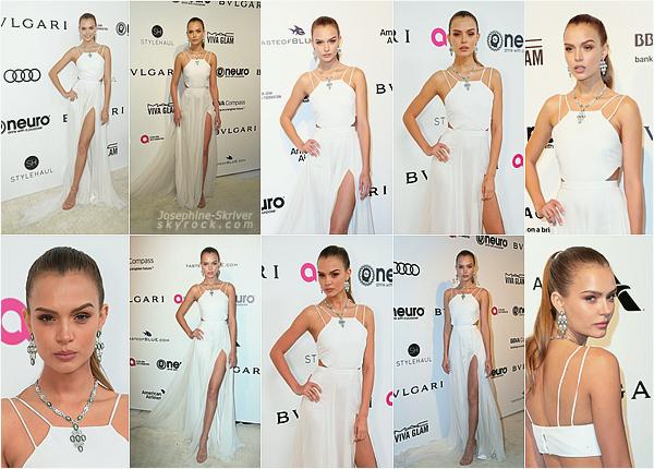 - 26.02.17 — Josephine a assisté au gala de charité pour les Oscars d'Elton John a Los Angeles. Josephine et d'autres personnalités se sont réunis pour la bonne cause à Los Angeles. Je trouve Jo sublime en blanc, gros top pour moi ! -