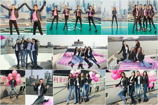 - 07.03.17 — Josephine Skriver s'est rendu a Shanghai, en Chine avec l'équipe de Victoria's Secret.  Nos anges se sont rendu dans la capitale chinoise a l'occasion de l'ouverture d'une boutique Victoria's Secret — Peu de photos HD.... -