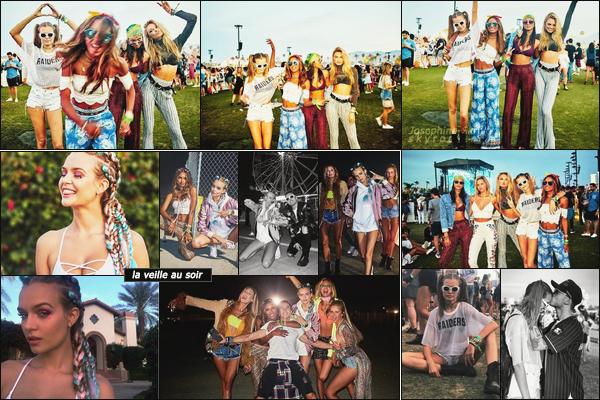 -                        16.04.17 — C'est toujours au festival Coachella qu'on retrouve Josephine qui en profite avec ses amies. Coachella day 3 | Dernier jour de festival pour Jojo, cette dernière a passer la journée avec ses amies et son chéri, top sa coiffure !!   -