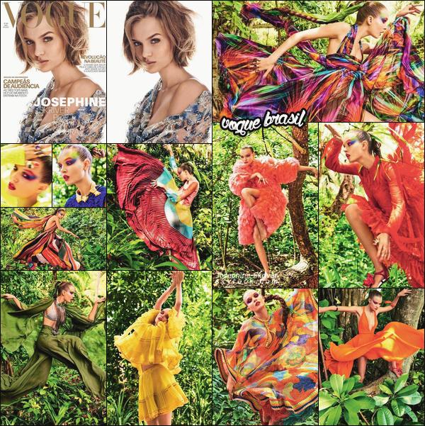 - • • Découvrez un magnifique photoshoot de Josephine Skriver pour Vogue Brasil ! -