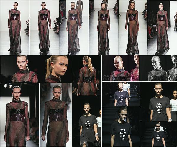 - 12.02.17 — Josephine Skriver a défiler pour le styliste Prabal Gurung lors de la Fashion Week à NY.  La fashion Week débute a New York pour Jojo ! - Elle a été vu quittant le show un peu plus tard dans la soirée, j'adore ce qu'elle porte. -