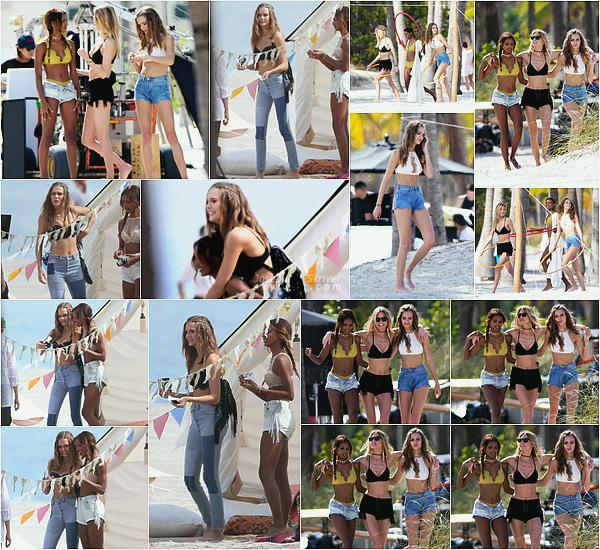 - 02.02.17 — Josephine s'est rendu a Miami toujours pour un shooting photo pour Victoria's Secret. C'est en compagnie des ses amies et autres anges Jasmine Tookes et Martha Hunt que Jo posait - j'aime beaucoup son look, des avis ?   -