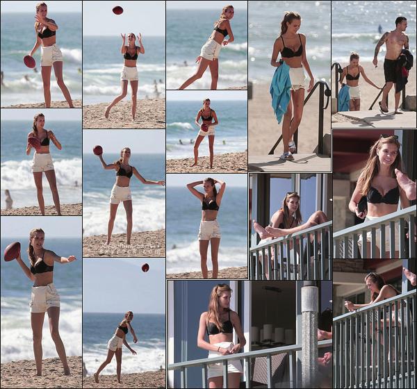 - 19.06.17 — Miss Skriver a été vu jouant au football américain sur une plage de Malibu, en Californie. Josephine, son chéri ainsi que des amis ont profité du beau soleil californien. Côté look, haut de maillot noir, short blanc, bof  bof ... -