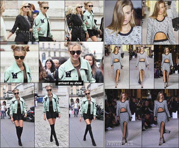 - 28.09.17 — La Fashion Week continue, et c'est pour Balmain cette fois ci que Josephine défile. C'est dans la capitale de la mode, Paris, que Josephine s'est rendue pour défilé. Elle a été repéré plus tôt dans la journée arrivant au show. -