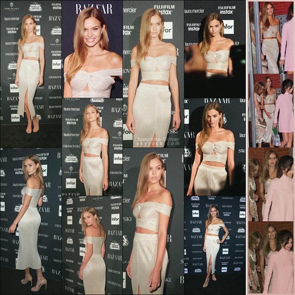 - 08.09.17 —  Josephine été présente à la soirée organisée par le magazine « Harper's Bazaar » à NYC. À son habitude, Jo nous offre un look à couper le souffle ! Plus tôt, la miss a été vu se rendant à la soirée accompagnée de Selena Gomez, TOP ! -