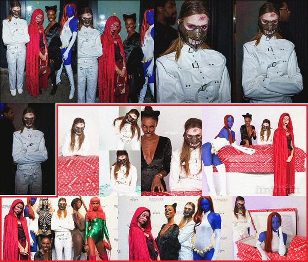 - 28.10.17 — Nos anges VS se sont transformé en démon pour la fête d'Halloween organisé à New York. BOUH ! C'est tout droit sortie d'un asile psychiatrique que Jo s'est rendu à la soirée en compagnie de ses amies. Très réussis le costume ! 🎃 👻 -