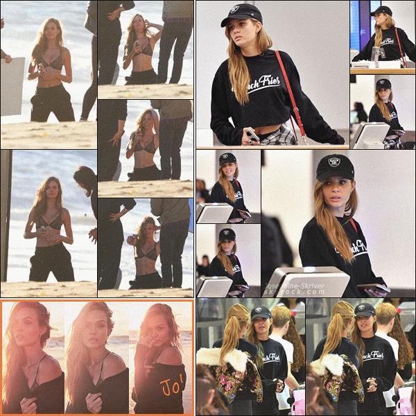 - 08.11.17 — Dernier jour de shoot pour Jo, on la retrouve cette fois-ci à Venice Beach, en Californie.  Tard dans la nuit, Jo a été vu à l'aéroport de Los Angeles, direction chez elle, à New York. Look comfy pour ce vol de nuit, TOP  !    -