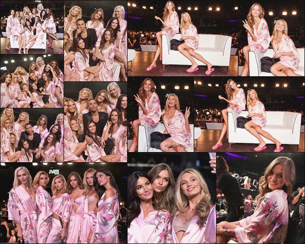 - - Victoria's Secret Fashion Show - ''—'' Découvrez les 1ère photos de Jo lors des backstages VS. Quelques heures avant le grand soir, nos anges ont pu se détendre pendant leurs séances coiffure maquillage. Jo est magnifique, TOP !  -
