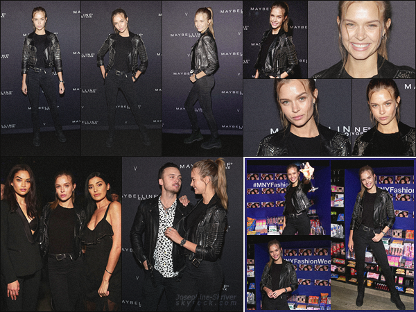 - 11.02.18 — J. a été invité à la Maybelline x V Magazine party organisée pour la Fashion Week de NY. Miss Skriver adopte un look simple pour la Fashion Week New-Yorkaise. Coup de c½ur pour son perfecto en strass ! Vos avis ?   -