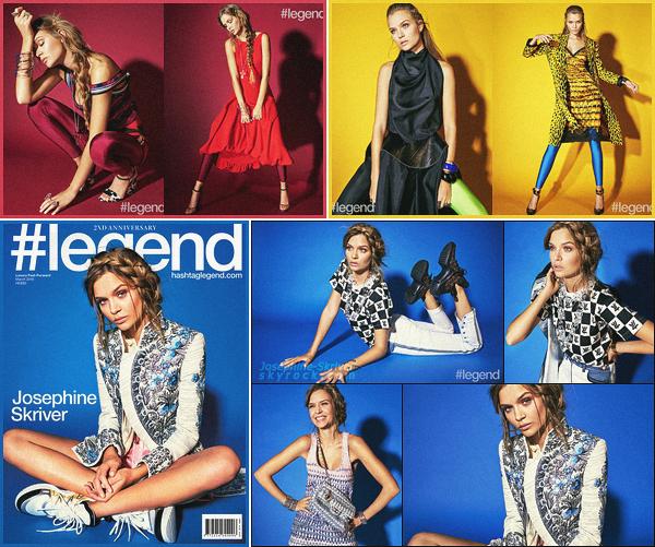 -  • •-Josephine Skriver prend la pose pour le magazine #Legend — édition Mars '18 ! -