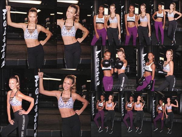 - 02.11.16 — Josephine Skriver et Jasmine Tookes a l'évent Train Like An Angel organisé par VS à NY. Qui de mieux pour représenter Victoria's Sport que notre duo inséparable fan de fitness ! Les filles sont souriantes et pétillantes, c'est un TOP !    -