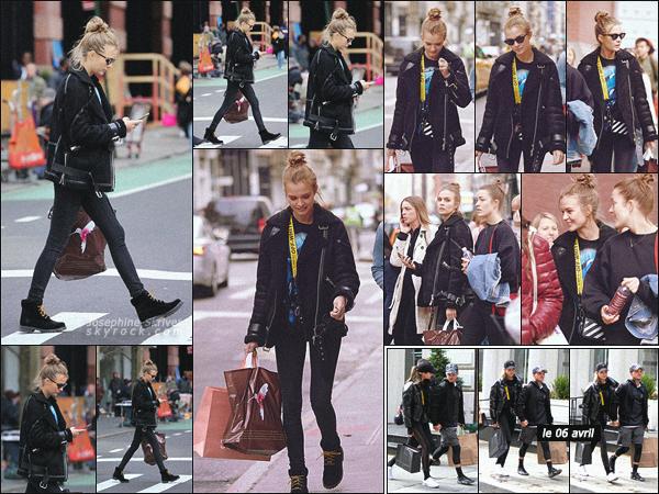 - 07.04.18 — Josephine a profité d'une journée off pour faire du shopping avec ses amies à New York. La veille, les amoureux ont été vu dans le quartier Lower Manhattan où ils ont fêté l'anniversaire d'Alexandre. Look simple mais efficace, top ! -