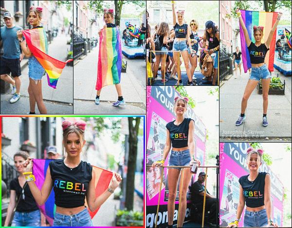- 24.06.18 — Josephine a assisté à la New York City Pride, marche annuelle se déroulant dans New York  Toujours présente pour la cause LGBTQ depuis son adolescence, notre belle blonde a défiler ce dimanche montrant son soutient à la cause. TOP !  -