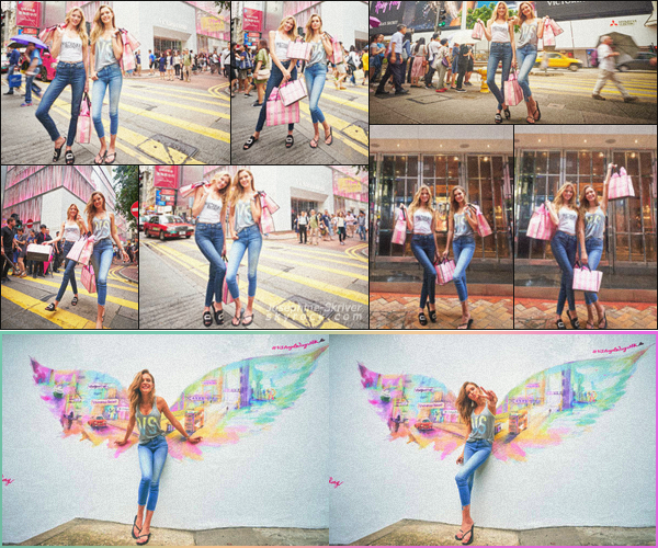 - 23.07.18 — Josephine s'est rendu à Hong Kong, en Chine pour faire la promotion de Victoria's Secret.  Accompagnée de Martha Hunt, les deux anges ambassadrice de la marque avaient pour mission de promouvoir la marque en Chine. Bien le look.  -