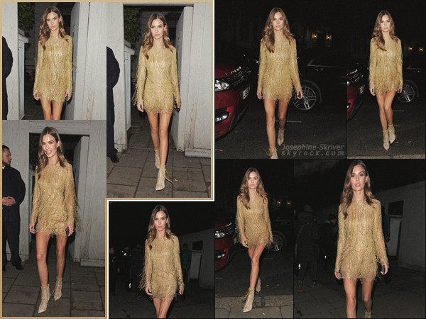 - 10/12/18.—. Plus tard, Josephine a été vu quittant l'after-party des British Fashion Awards dans la ville de Londres. J. a été photographier dans la soirée quittant l'after. Je préfère largement cette tenue comparée à la précédente, c'est un big TOP pour moi ! -