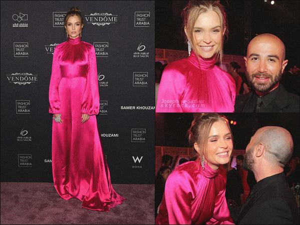- 28/03/19.—. La belle Josephine Skriver était invité au gala « Fashion Trust Arabia » qui a eu lieu à Doha au Qatar. -