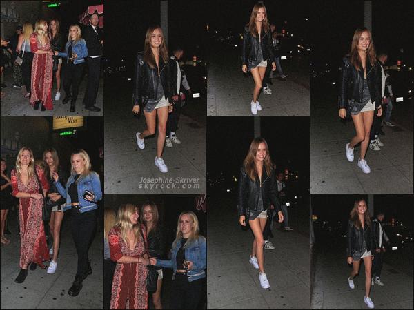 - 16/06/19.—. La belle Josephine Skriver a été vu quittant le célèbre night club « Delilah » situé à West Hollywood, CA.  -