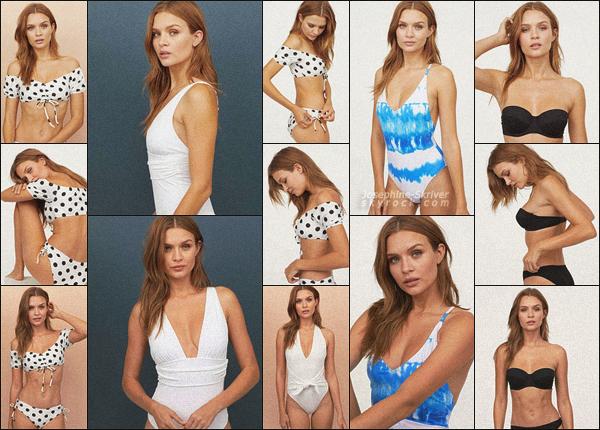 -  • • La sexy Josephine Skriver pose pour la collection swimwear de la marque H&M ! -