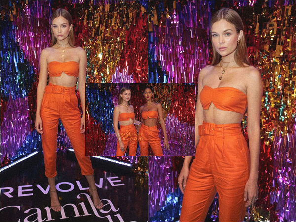- 21/06/19.—. La belle Josephine Skriver était présente à la soirée « Camila Coelho × Revolve » à Rio De Janeiro, BRA.  -