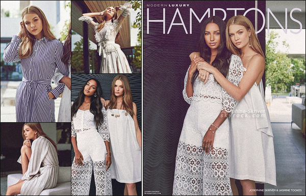 - • • Josephine Skriver & Jasmine Tookes font la couverture de Hamptons Magazine ! -