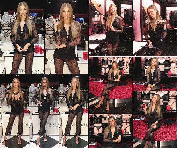 - 17/08/19.—. Skriver était présente lors du lancement de la nouvelle collection de VS dans leur boutique au Massachusetts.  -