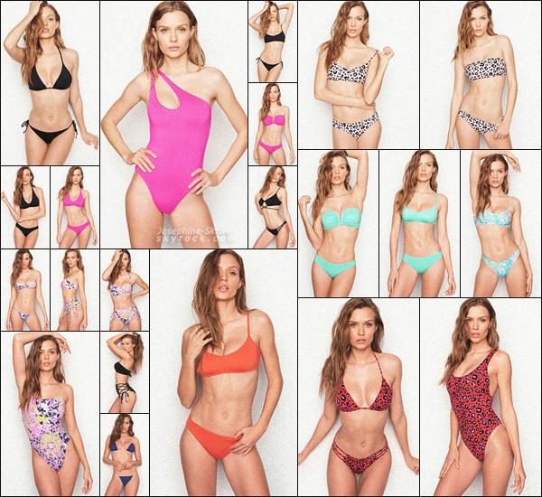 -  • •-Josephine Skriver pose pour la nouvelle collection de Victoria's Secret - SWIM ! -