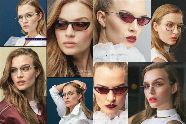 -  • •-Miss Skriver pose pour la nouvelle collection de lunettes ▬ Lindberg Eyewear ! -