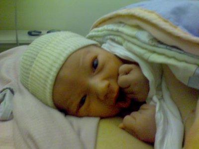 mon fils à sa naissance