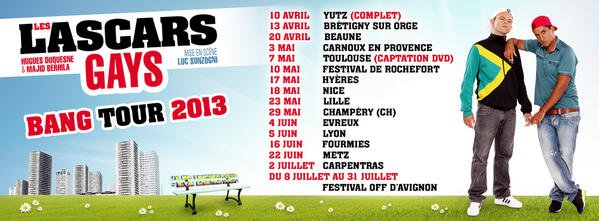 Dates du BANG TOUR 2013
