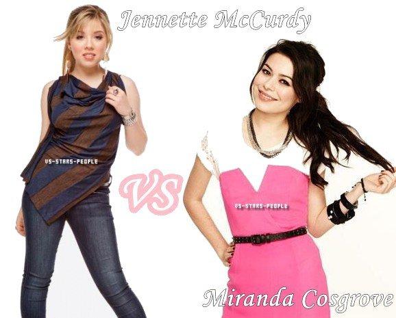 Jennette McCurdy VS Miranda Cosgrove